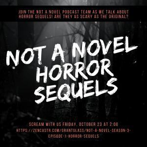 flyer advertising Not A Novel: Horror Sequels, Oct. 23rd